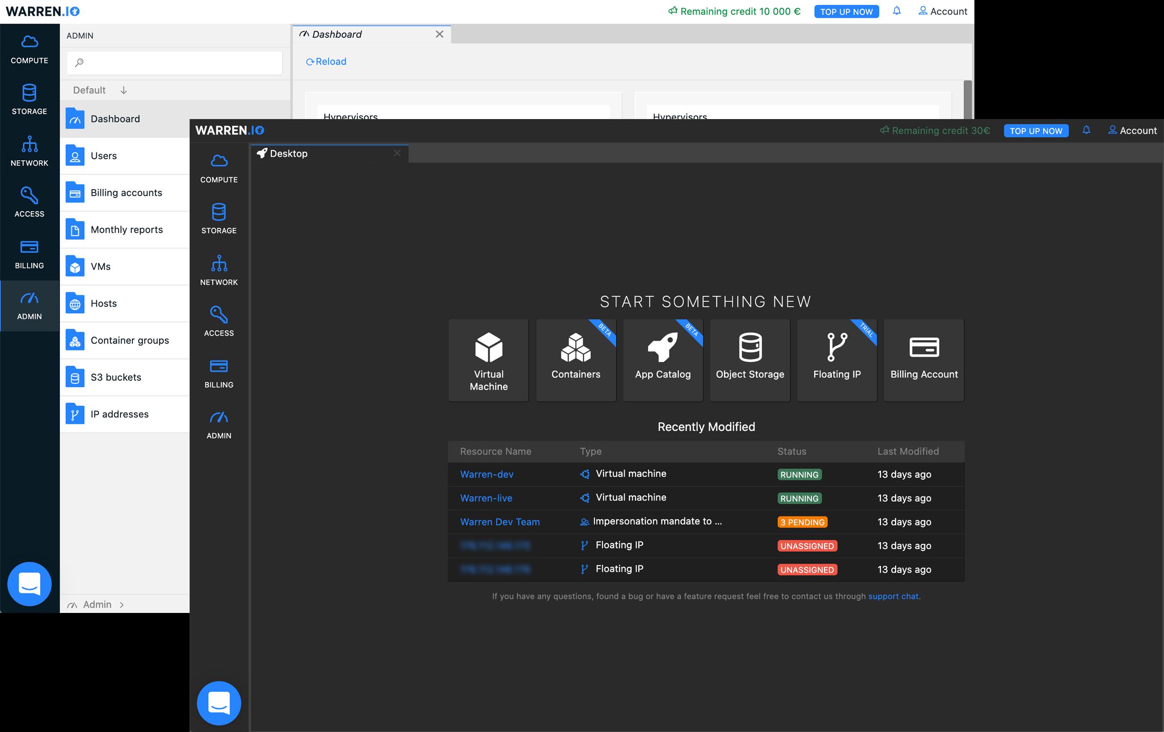 Recursos de gerenciamento de serviços - Customization - warren.io