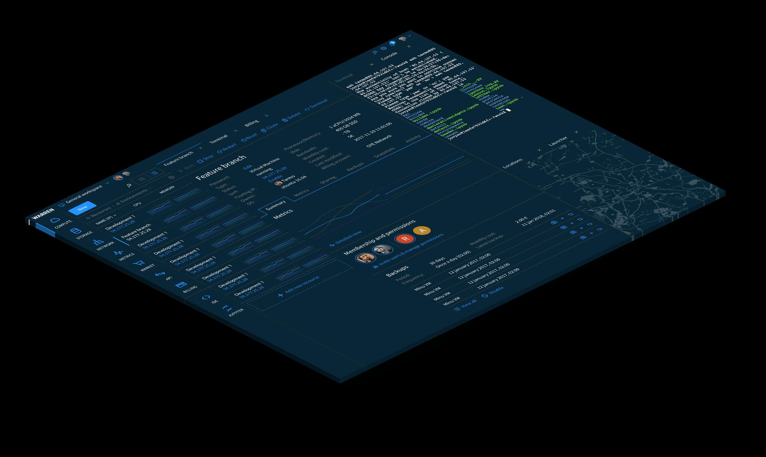 Platform overview easy to use - warren.io